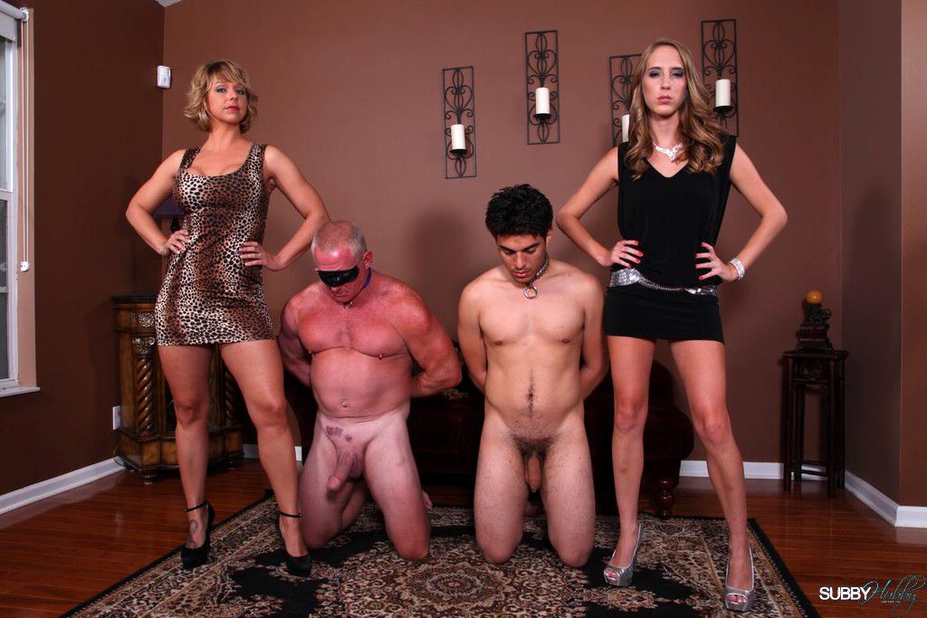 Brunette mistress esmi lee dominates subbyhubby in top femdom pic set